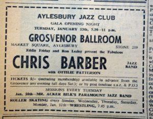Chris Barber Aylesbury ad