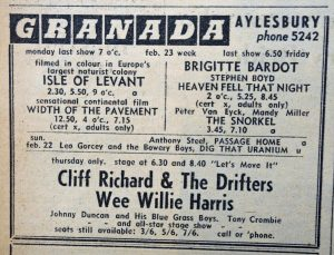 Cliff Richard ad