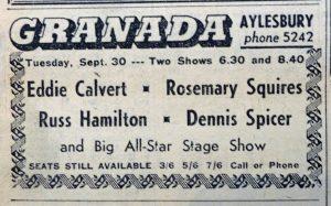 Eddie Calvert Granada 1958 ad