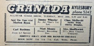 Marion Ryan Granada 1958 ad