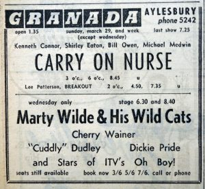 Marty Wilde ad