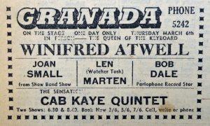 Winifred Atwell Granada 1958 ad