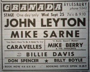 John Leyton ad