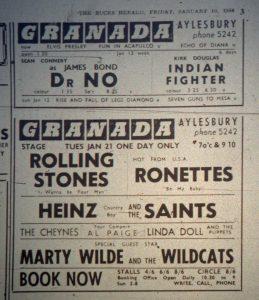 Rolling Stones Granada ad 1964