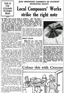 From the Bucks Herald 20 March 1953