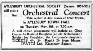 From the Bucks Herald 2 November 1951