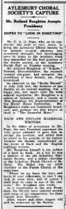 From the Bucks Herald 18 September 1936